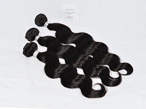 """Human Hair Direct 100% Virgin Peruvian Body Wave 3-pack (14"""", 16"""", 18"""") 300g Total, Grade AAAAAA (#Virgin Color) with Argan Oil 