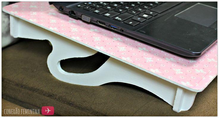 Mesinha de Notebook Rosa