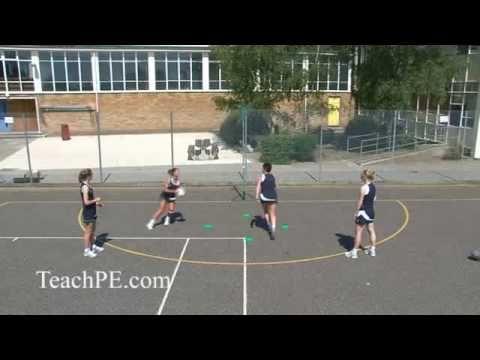 Netball Drill - Shooting - Free for Ball - Circle Rotation 1 - Lvl 2