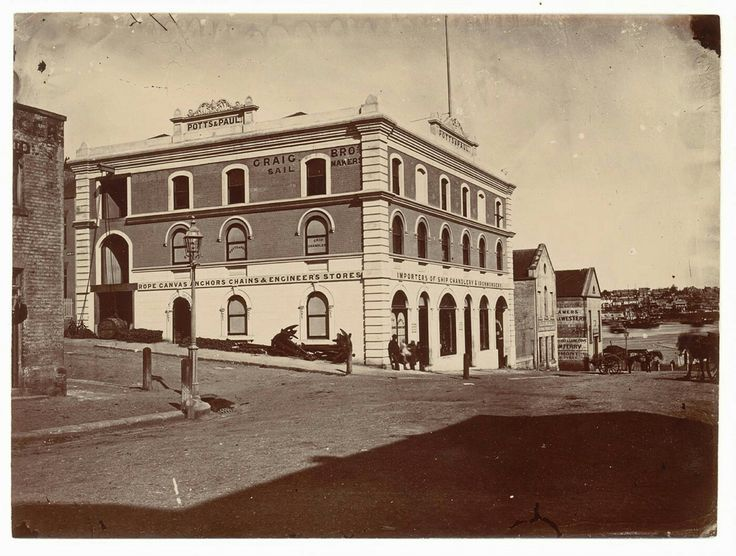 Potts & Paul at Erskine and Union Streets,Sydney in the 1870s.