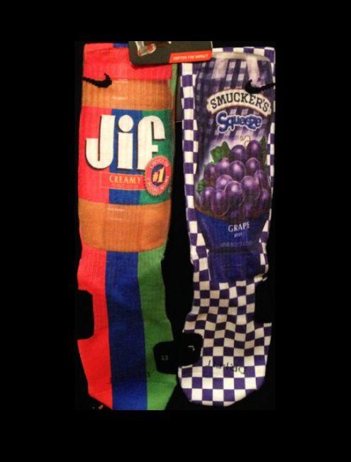 Pb and J Nike Socks