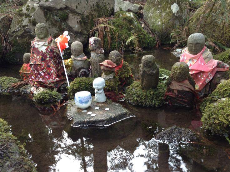 Jizoubosatu at Mt.Kinbou. in Japan yamagata state tsuruoka city.