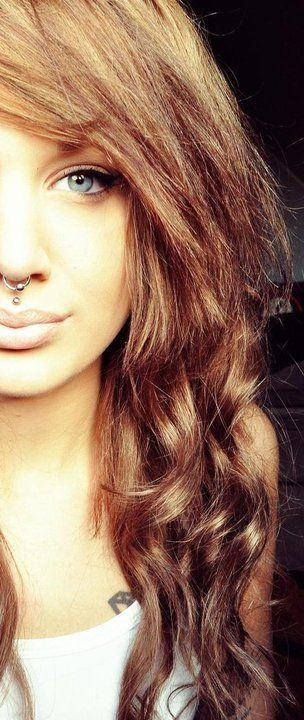 septum and medusa piercing. OMG. I don't know what it is with the medusa!