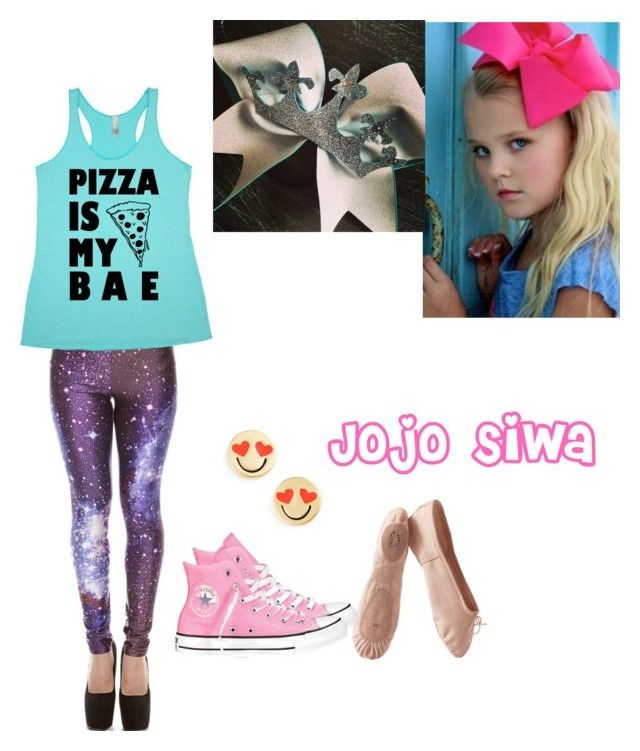 """Jojo Siwa (Dancer) inspired outfit"" by elowilmot on Polyvore featuring Kate Spade, Porselli and Converse"