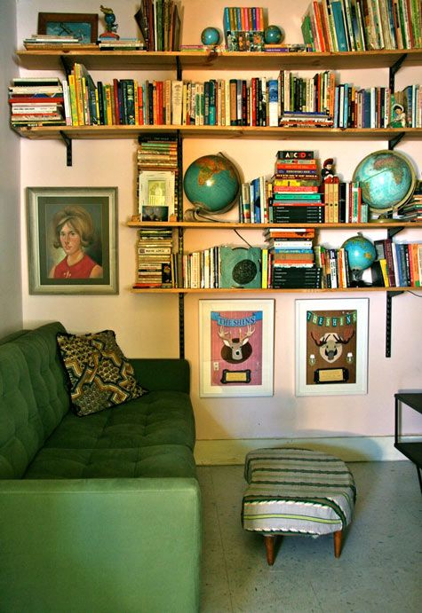 An eclectic book room