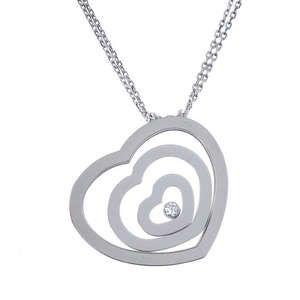 LOT:358 | CHOPARD - a 'Happy Spirit' diamond pendant.