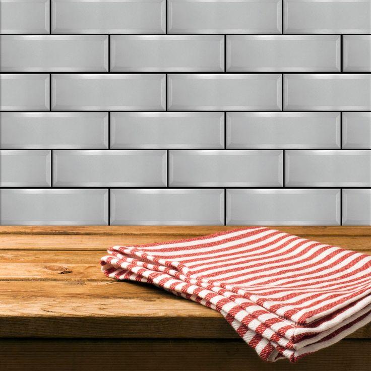 Perle Silver Gloss Tiles Metro 300x100 Tiles 300x100x5.5mm Tiles