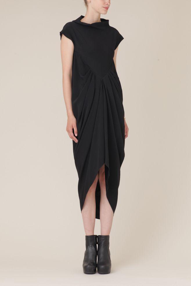 Rick Owens Deesse Dress (Black) || Totokaelo