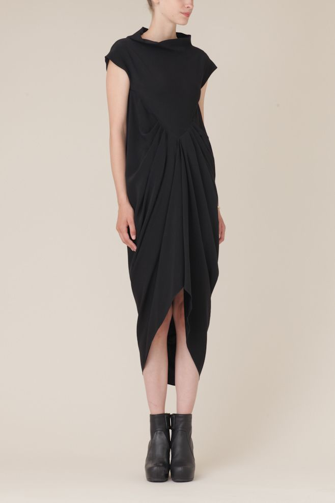 Rick Owens Deesse Dress (Black) || Totokaelo