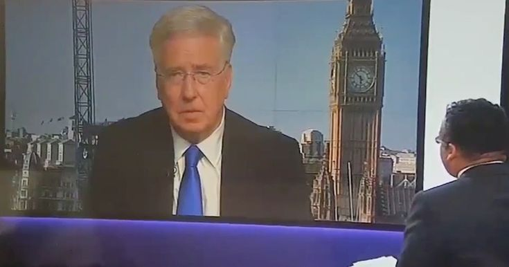 """The Defence Secretary was left dumbfounded when presenter Krishnan Guru-Murthy said to him: """"Those are actually the words of Boris Johnson"""""""