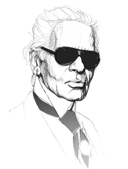 Karl Lagerfeld by Justyna.