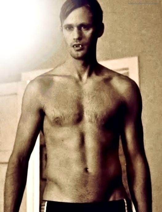 Eric Northman will you let me drool on you! Ya we could be that close ;)