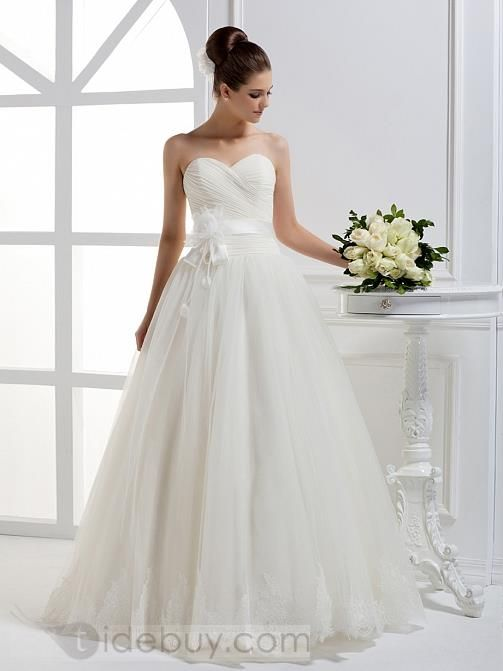 Beautiful A-line Sweetheart Floor-length Wedding Dress : Tidebuy.com