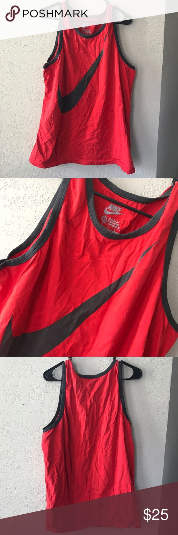 Men's Nike Tank Like new condition. No flaws. Red Nike tank top. Size XL. Regular fit.  No trades. Bundle to save. Ships same or next day Nike Shirts Tank Tops