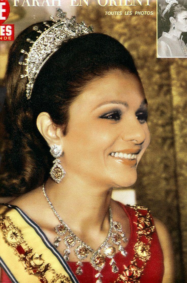 Empress Farah Diba of Iran   Tiaras   Farah diba, Diamond ...