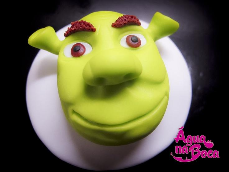 Shrek Cupcake