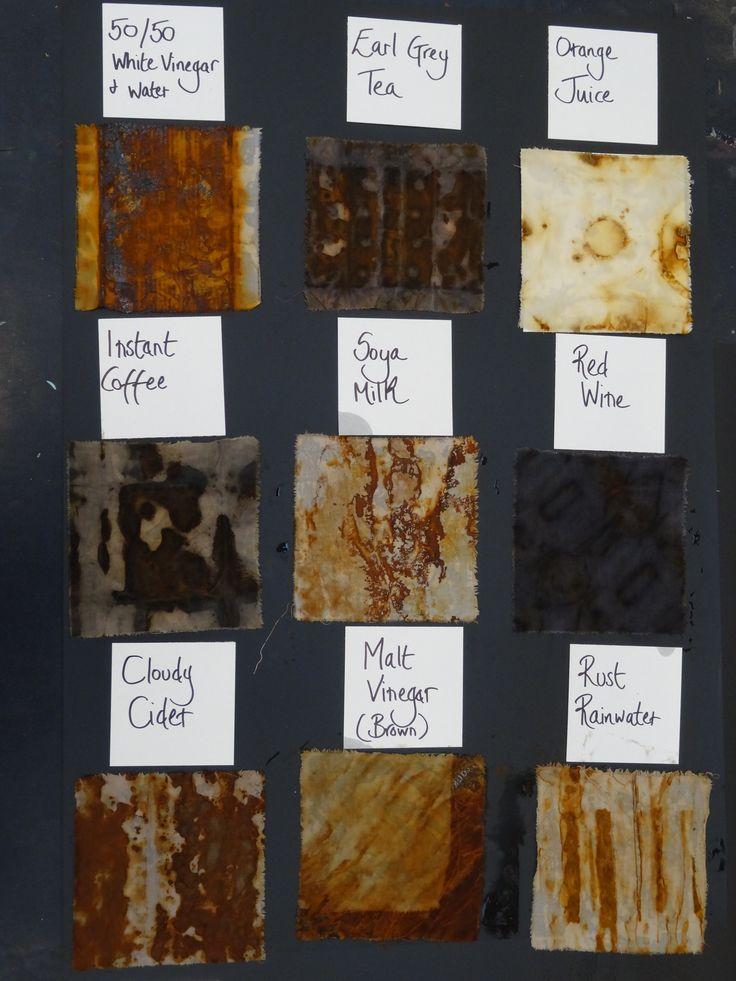 Dyeing and mark making with rust workshop run by Jule Mallett (website: julemallett.uk   Facebook: Jule Mallett)