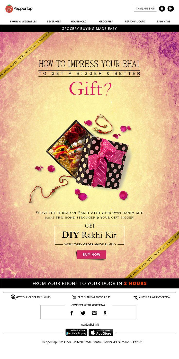 #DIY #RakhiKit #emailer #Email #Design #Emaildesign #emailmarketing Visit http://www.grapessoftware.com/