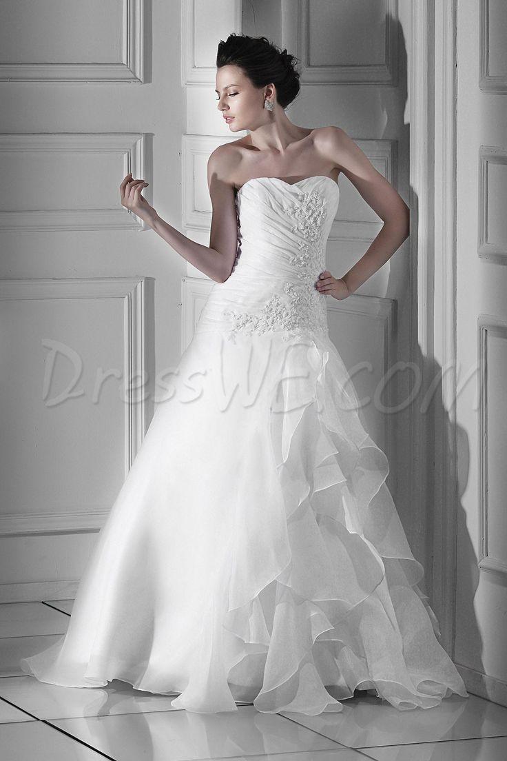Spectacular A-line Sweetheart Floor-Length Chapel Appliques Wedding Dress 3827654 - Wedding Dresses 2014 - Dresswe.Com