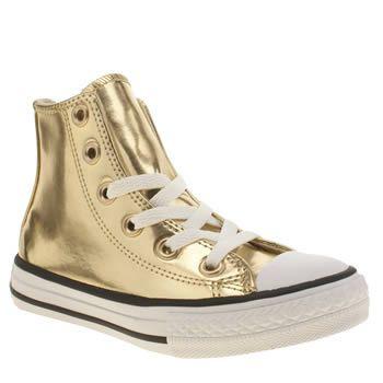 Converse Gold All Star Hi Chrome Girls Junior