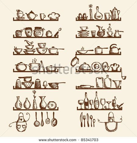 Kitchen Tools Drawings 55 best sketch kitchen images on pinterest | kitchen, drawings and
