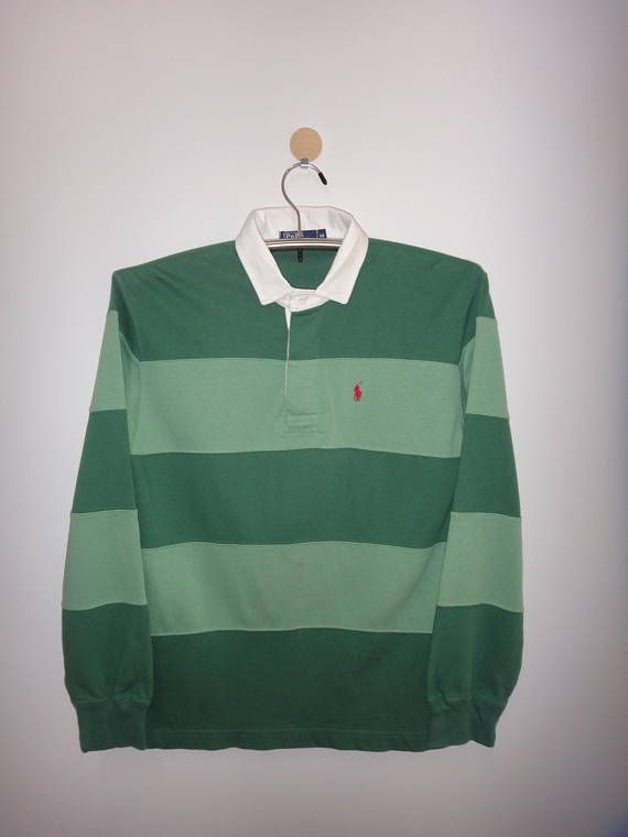 Vintage Polo By Ralph Lauren Women Clothing Shirt Rugby Stripe