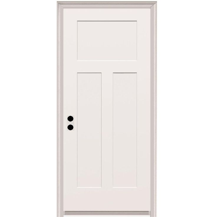 Mmi Door 32 In X 80 In Craftsman Right Hand Primed Composite 20 Min Fire Rated House To Garage Single Prehung Interior Door Z020494r The Home Depot Prehung Interior Doors Doors Interior Fire Rated Doors
