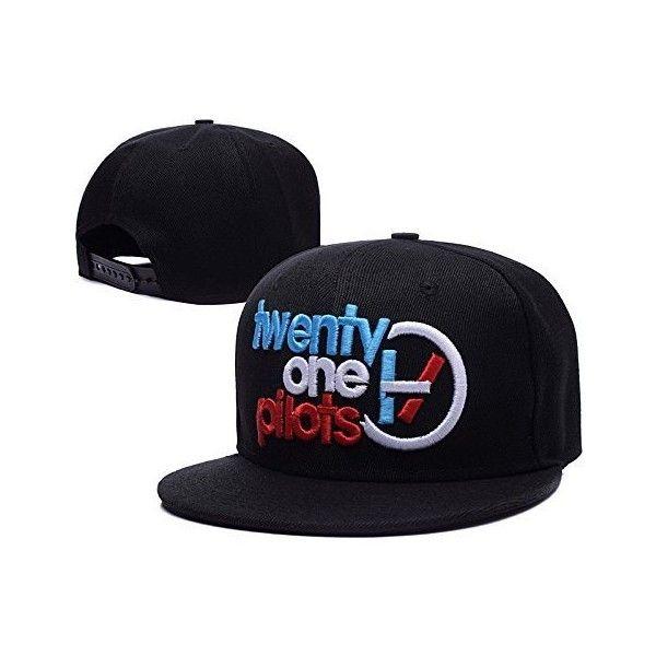 QIANGSHENG Twenty One Pilots Logo Adjustable Snapback Caps Hats ($9.99) ❤ liked on Polyvore featuring accessories, hats, 21p, tops, snap back hats, adjustable caps, snapback cap, snap back cap and cap hats