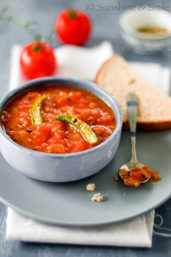 Sweet and Spicy Tomato Chutney | Playful Cooking
