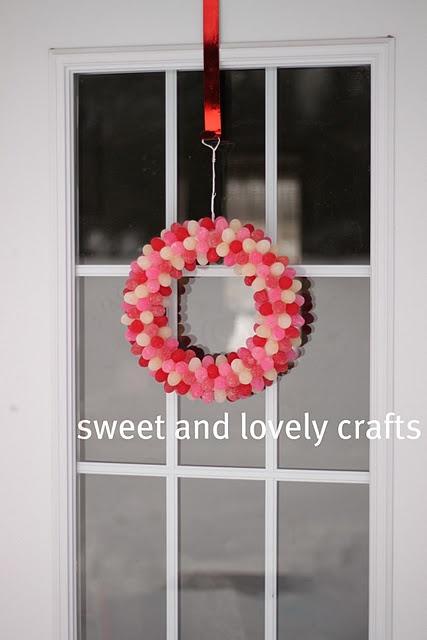 gumdrop Valentine's Day wreath