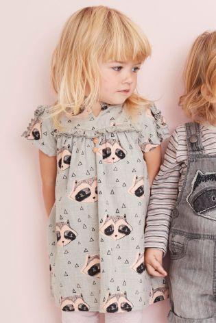 Kaufen Sie Kleid mit Waschbärendruck, grau (3 Monate bis 6 Jahre) heute online bei Next: Deutschland