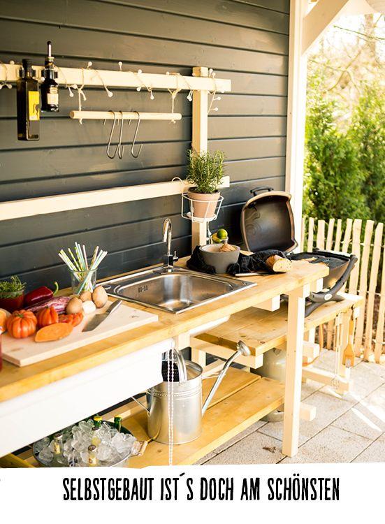 Outdoor kitchen Alfons build himself – garden furniture