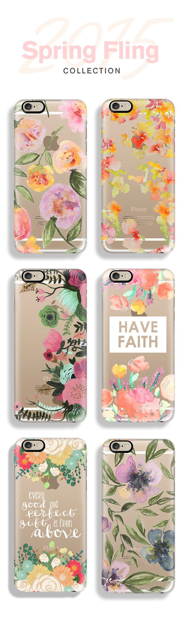 Top 6 spring floral iPhone 6 protective phone cases | Click through to see more floral print iPhone 6 phone case design ideas >>> http://www.casetify.com/collections/spring_fling?k=PNTRC #pastel | @casetify