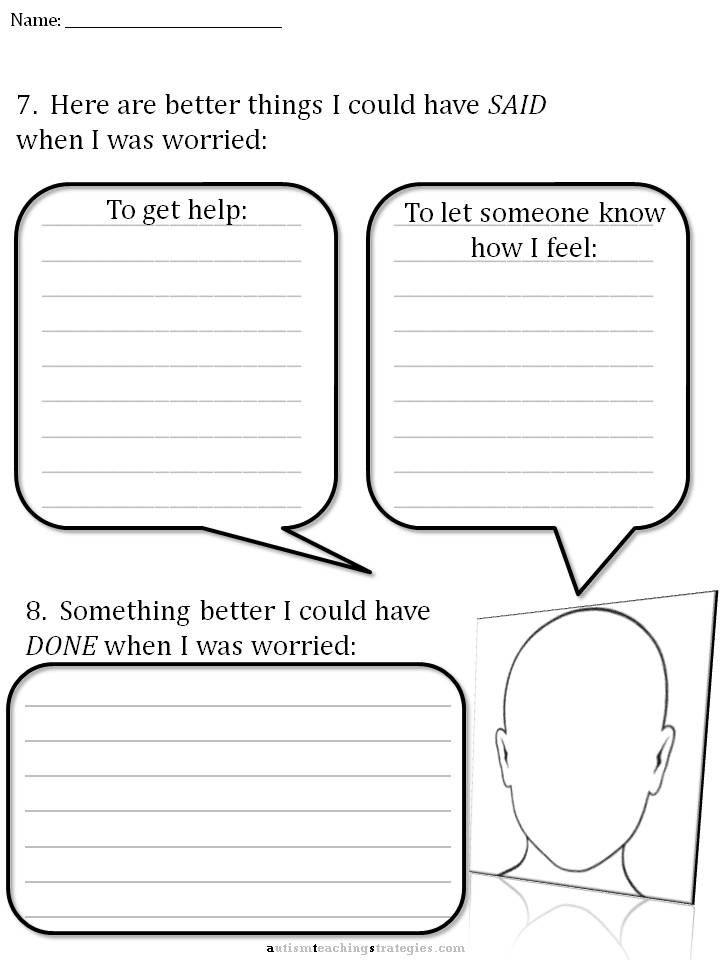 CBT Childrens Emotion Worksheet Series 7 Worksheets For Dealing With Anxiety