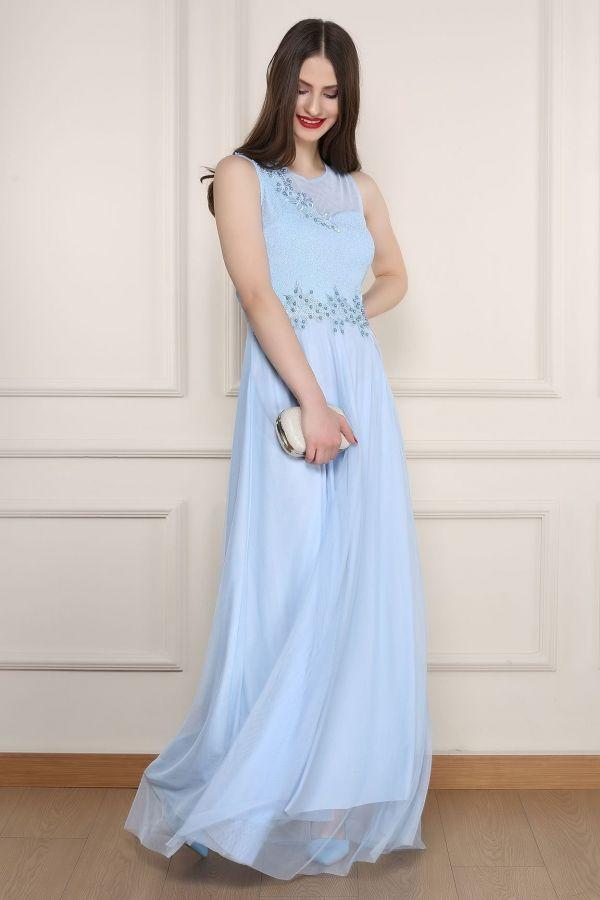 Acik Mavi Abiye Elbise 0013 Kapida Odemeli Ucuz Bayan Giyim Online Alisveris Sitesi Modivera Com Ucuz Abiye Elbiseler Kap Mavi Abiye Maksi Elbiseler Giyim