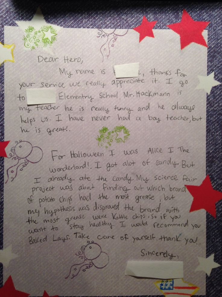 Best Kids Letters To Soldiers Images On   Kids