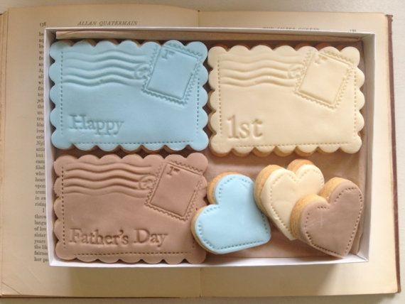 Daddy's First Father's Day Cookie Gift Set on Etsy. What a sweet idea!