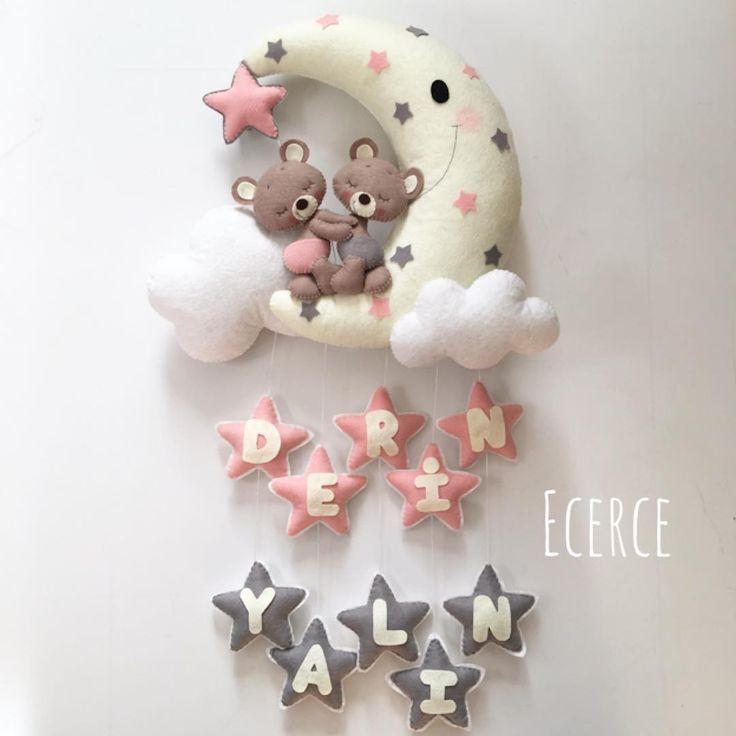 Derin&Yalın ikizlerin kapı süsü #keçe #felt #feltro #fieltro #kapısüsü #keçekapısüsü #ecerce #tasarım #babyroom #babyroomdecor #elyapımı #handmade #hediye #babyshower #bebekodası #craft #feltcraft #bear #feltbear #bearlove #doğumhediyelikleri