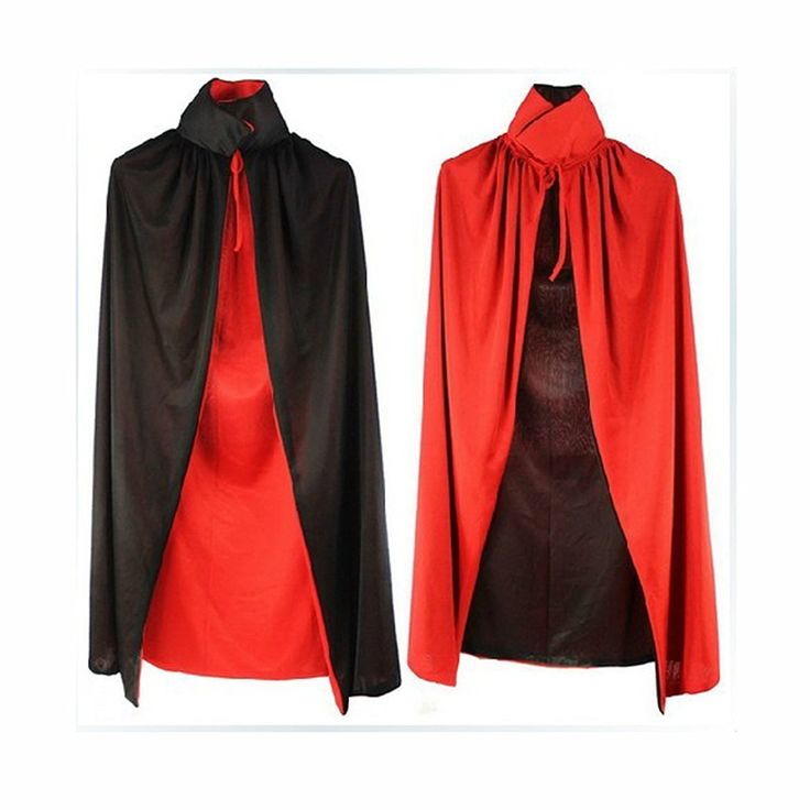 Amazon.com: Vampire Cape/ Witch Cloak Reversible Red/ Black (35 Inch) With Vampire Teeth: Clothing