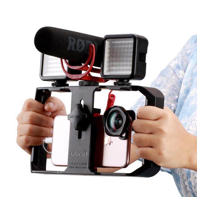 Tienda Online Ulanzi U Rig Pro Smartphone Video Rig W 3 Soportes De Zapatos Filmación Caso De Mano Teléfono Teléfono Inteligente Cosas Tecnologicas Smartphone
