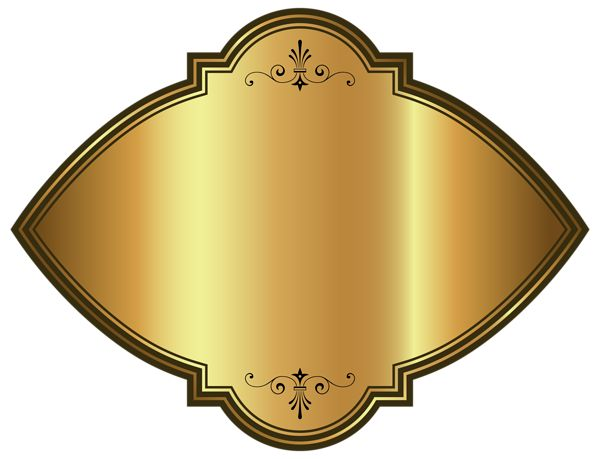 Gold Luxury Label Template Clipart Image
