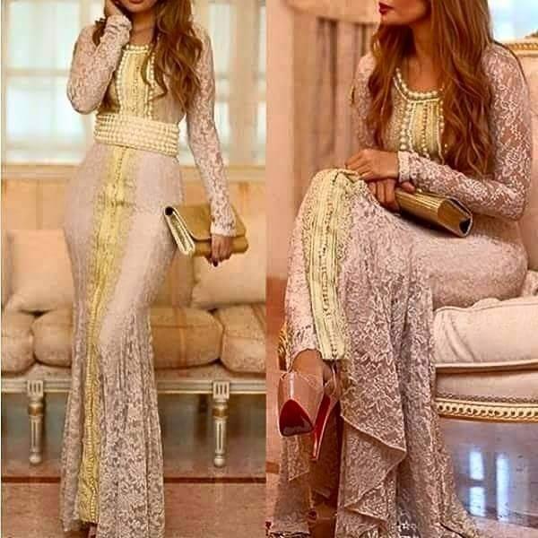 robe en dentelle style caftan