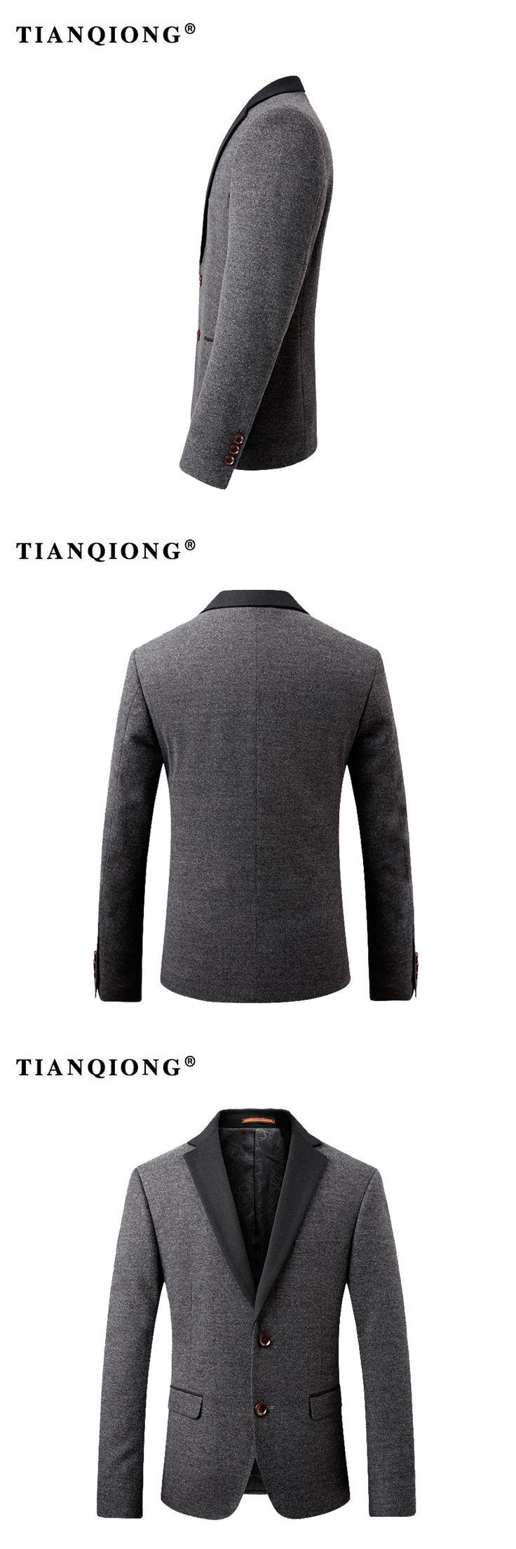 TIAN QIONG 2018 Brand Men Casual Cotton Blazer for Autumn Winter Men's Cotton Suit Jacket Male Slim Fit Jaqueta Blazer Masculino