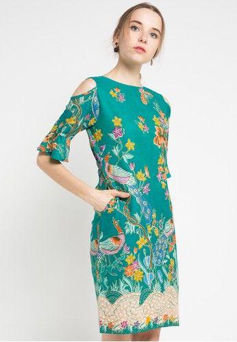 Dress Dobby P Alonza Merak Pb from Batik Putra Bengawan in green_1