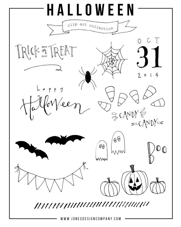 Free Halloween Cilp Art from Jones Design Company {newsletter subscription required}