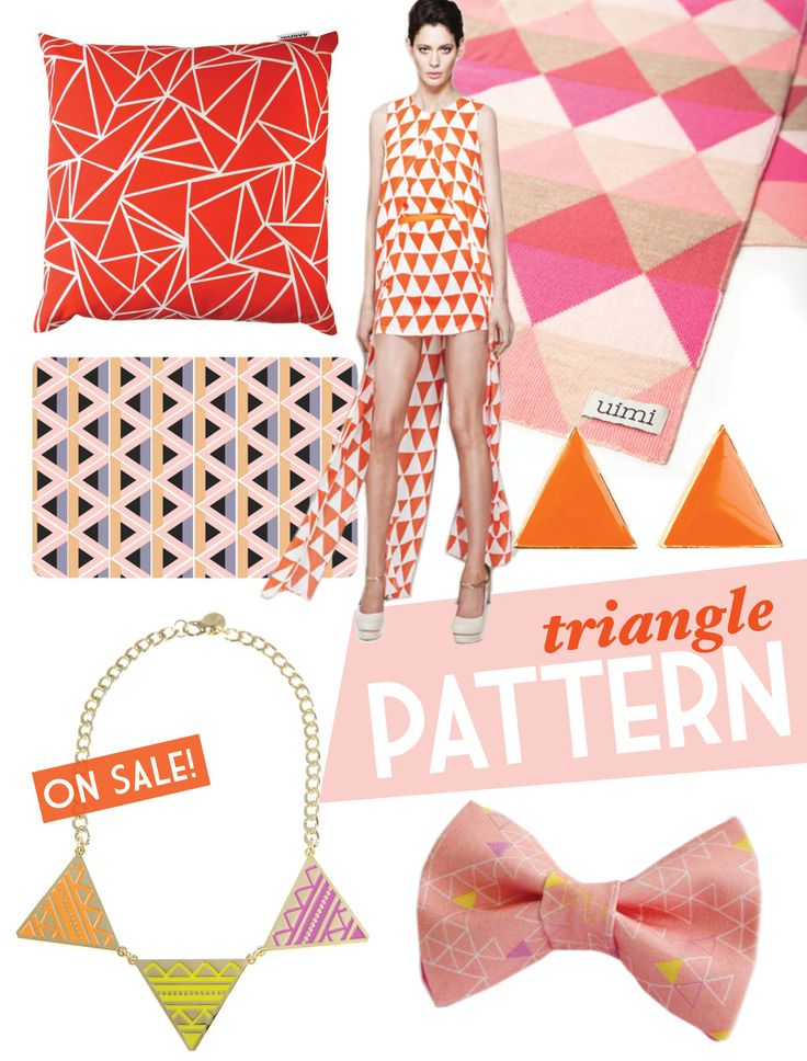 Triangle cushion in an Adore Home magazine collage
