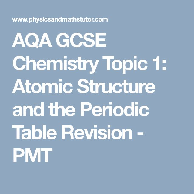 Best 25 gcse chemistry revision ideas on pinterest chemistry aqa gcse chemistry topic 1 atomic structure and the periodic table revision pmt urtaz Image collections