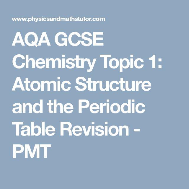 Die besten 25 aqa ideen auf pinterest urgeschichte aqa gcse chemistry topic 1 atomic structure and the periodic table revision pmt urtaz Images