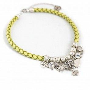 Bibi Bijoux lime green rope necklace