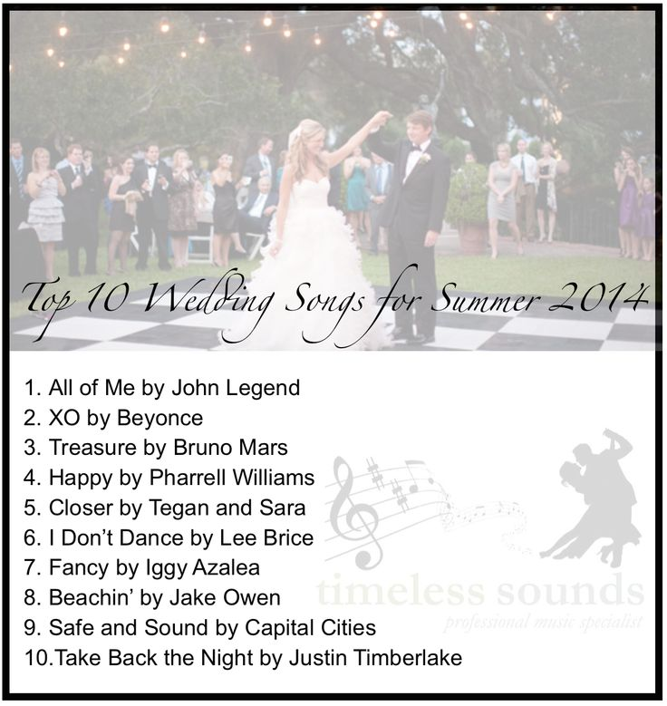 Top 10 Wedding Songs Of Summer 2014